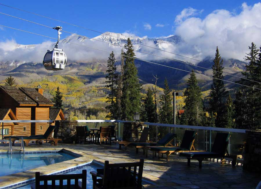 Mountain Lodge at Telluride: Adjoining ski-in-ski-out condos for partnership/exchange opportunity